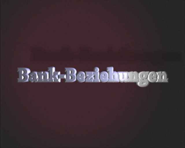 Bilderserie zur Darstellung des Openers für den Film Bankbeziehungen, Bild 2