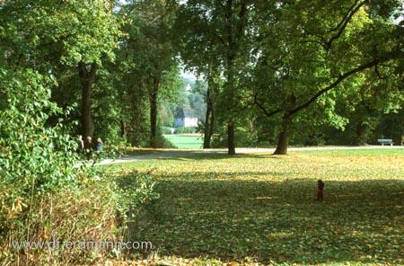 Blick auf Goethes Gartenhaus im Ilmpark